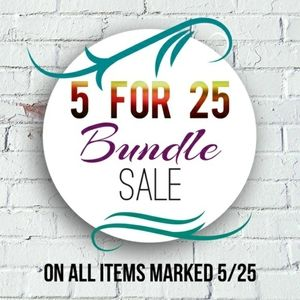 5 for $25 Sale